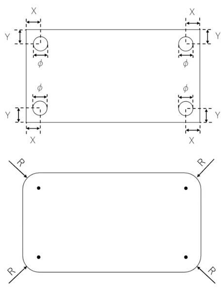 板材加工品(CNC加工)に可能な加工